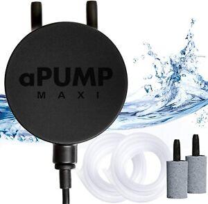 Silent Aquarium Air Pump aPump MAXI, EU plug 220V-240V, Fish Tank up to 200 L