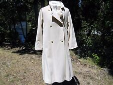 "CASHMERE WOOL COAT 8 USA 48"" BUST DOUBLE BREASTED EU 40 YOUR SIXTH SENSE C&A"
