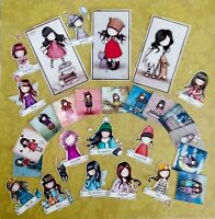 Craft clearout mix, card toppers / Santoro's Gorjuss tiny scrapbooking toppers
