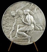 Médaille allégories drapées, tapissiers décorateurs à Didier Gilbert 1922 medal