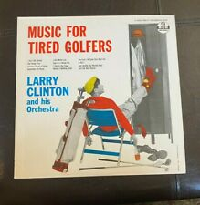 """New ListingLarry Clinton Lp """"Music For Tired Golfers"""" 1957 Mgm E3567 Big Band Novelty Vg+"""