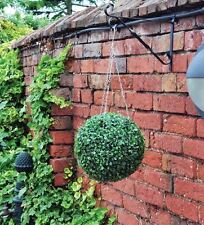 2 x Green Artificial Topiary Ball Hanging Basket NEXT DAY DELIVERY / BRAND NEW