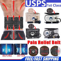 Lumbar Decompression Belt Back Brace Spinal Support Air Traction&Extender US Hot