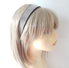 Beautiful 2.5cm wide full diamante plastic headband - aliceband - Prom - bridal