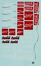 decals decalcomanie deco divers coca cola   1/24 valable 1/18