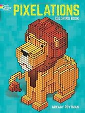 Pixelations Adult Colouring Book Computer Graphics 8 Bit Minecraft Pixel Cool