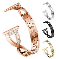 Watch Band Bracelet For Samsung Galaxy Watch 42 46mm Luxury Metal Diamond Strap