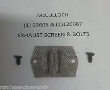 EXHAUST SCREEN + SCREWS MCCULLOCH 605 610 650 EB 3.7 CHAINSAW PARTS