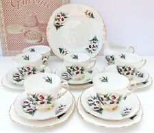 Vintage Colclough Bone China 18 Piece Tea Set Plates Cups Saucers Milk Sugar