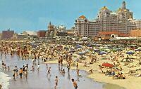 Vintage 1960s Atlantic City Beach and Boardwalk New Jersey Postcard
