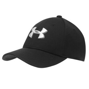 Under Armour Kids Heathered Black II 2.0 Blitzing Stretch Fit Boys Baseball Cap