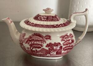 Copeland Spode's Tower Pink Teapot