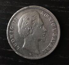 German Empire Coin Ludwig II Kœnig V. Bayern Deutsches Reich 1875 D. Fünf Mark