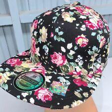 c146515c653 Full Floral Hawaiian Black Headlines Snapback Baseball Cap Hat 100% Cotton