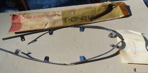 NOS PONTIAC 1970 FIREBIRD TRANS AM ACCESSORY DOOR EDGE GUARD SET WITH TABS  t