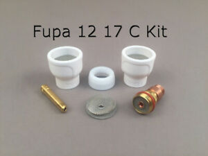 FUPA 12 Ceramic Cup Complete Kit for 17, 18, & 26 Series TIG Torches