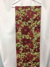 Table Runner Christmas holiday pointsettia red green gold sparkle Better Homes 1