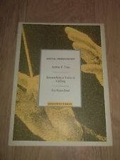 """ARTHUR F. TATE """" SOMEWHERE A VOICE IS CALLING """" ** SHEET MUSIC **  EXCELLENT"""