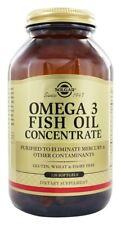 Solgar Omega 3 Fish Oil Concentrate, 120 Softgels