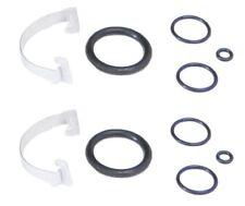 (Qty 2) Air Spring Bag Suspension Solenoid Valve Seal Gasket O-Rings Set Clips