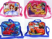 Insulated Lunch Pack Bag With Shoulder Strap Kids Boys Girls School Bag