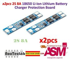 2pcs 2S 7.4V 8A Li-ion 18650 Lithium Battery Charger Protection 8.4V BMS PCM