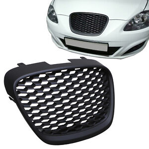 BLACK HONEYCOMB BADGELESS DEBADGED FRONT GRILL GRILLE FOR SEAT LEON MK2 1P 09-12