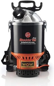 Hoover C2401 Commercial Lightweight Backpack Vacuum Harness Reduces Strain Black
