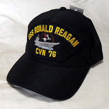 USS RONALD REAGAN CVN-76 NAVY SHIP HAT OFFICIALLY LICENSED BALL CAP Made in  USA 6cb31ff73a2