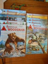 lot of 11 vintage Issues of American Woodsman Magazine Oct 1952 through Aug 1953
