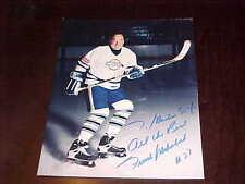 Frank Mahovlich Toronto Maple Leafs ATG Autographed Signed Hockey Photo