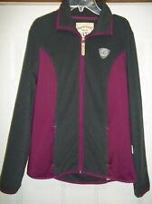 Horseware Ireland Equestrian Full Zip Fleece Jacket Gray Purple Sz Med Pockets