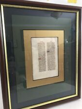 Illuminated Medieval Manuscript Leaf From Breviary In Latin Vellum Ca. 1480