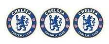 3 x Chelsea Football Club (Dia 70mm) vinyl stickers.