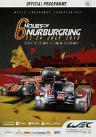 6h Nürburgring 2016 7/16 Rennprogramm Programmheft Rennen Official Programme