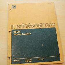 Cat Caterpillar 950b Wheel Loader Lubrication Maintenance Owner Manual Front End