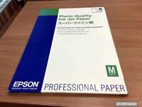 Epson 15 Blatt Photo papier inkjet 102g/m2 A2 aus dem C13S041079 Pack, NEU