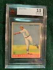 1933 Goudey Bill Terry  #20 Graded  VG+ BvG 3.5