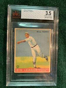1933 Goudey Bill Terry  #20 Graded  VG+ BvG 3.5
