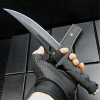 EVERRICH G10 black fiber handle tactical straight knife black sharp hunting