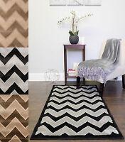 Allysum 2-Tone Chevron Stripe Decorative Décor 3' x 5' Floor Area Rug Carpet