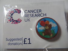 Cancer Research UK Charity Pin Badge - TEDDY BEAR - New August 2015