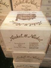"Wine Crate - Original Nickel & Nickel Cabernet Wooden Wine Box w Lid - 14x12x8"""