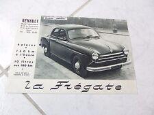 Renault Frégate Affaires 1953 catalogue brochure dépliant prospekt sales