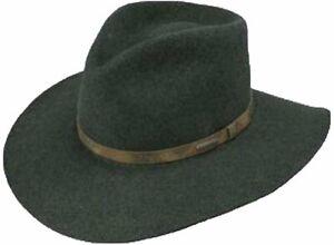 Steston Palmer Wool Cowboy Hat, Olive Mix, Medium