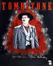"Val Kilmer Tombstone ""Doc Holliday"" Authentic Signed 16X20 Photo BAS 2"
