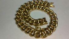 """Solid 18k rose gold hollow 8mm bracelet 16.9 grams - 7.66"""" long"""