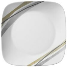 Corelle Square Muret Single Dinner Plates,  Lunch Plates , Cereal Bowls