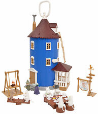Moomin Plastic House and 9 Figures Martinex