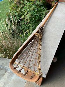 "Vintage Circa 1963 STX Wood Lacrosse Stick Excellent Condition 43""Wooden LAX"